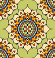 Green Mandala Patterned Background vector image