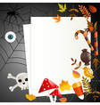 Halloween card with place for your text vector image