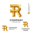 r letter modern logo identity brand icon business vector image