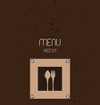Restaurant Menu Background vector image