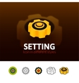 Setting icon in different style vector image
