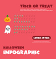 style halloween infographic design vector image