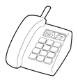 Support phone icon outline style vector image