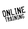 Online training stamp vector image