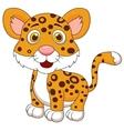 Cute baby jaguar cartoon vector image
