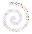 skull fireworks spiral vector image