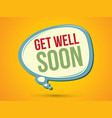 get well soon text in balloon vector image