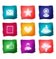 Social media icons watercolor vector image