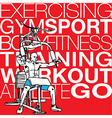 muscular man exercising on a lat machine in gym vector image vector image