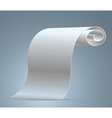 blank sheet of white vector image vector image