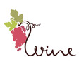 Logotype sign - wine vector image vector image