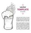 beer glass with beer isolated on vector image