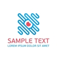 Blue abstract logo template vector image