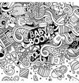 Cartoon doodles baby boom frame vector image
