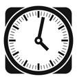 clock retro icon simple black style vector image