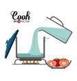 Cook design vector image