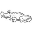 Crocodile outline vector image
