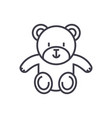 cute teddy bear line icon sign vector image