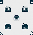 keyboard icon sign Seamless pattern with geometric vector image