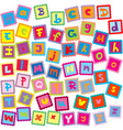 letters of alphabet vector image