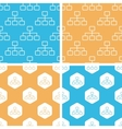 Scheme pattern set colored vector image