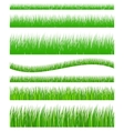 Set of seamless grass vector image