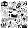 music party - doodles set vector image vector image