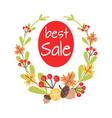 christmas best sale icon surrounded by wreath vector image