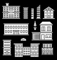white houses icons on black backgrond vector image