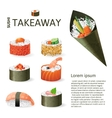 Great sushi set vector image