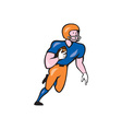 American Football Player Rusher Run Cartoon vector image