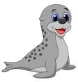 Baby seal cartoon vector image