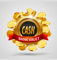cash bank vault coins depository vector image