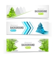 Colorful set of banners with Christmas tree vector image