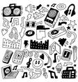 music party - doodles set vector image