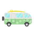 surfer van flat icon transport and vehicle vector image