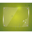 Green grass natural background with glass vector image