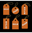 Set of orange tags vector image