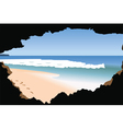 Beach and Sea vector image vector image