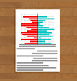 file with chart on table vector image