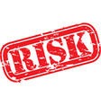 risk stamp vector image vector image