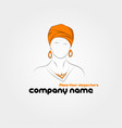 silhouette of arabic woman in a turban vector image