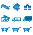 retail and transport icons vector image vector image