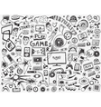 computer games - doodles collection vector image