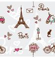 Paris - seamless pattern vector image vector image
