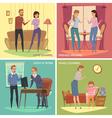Colorful Quarrel Concept vector image