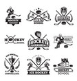 labels and badges of winter sport hockey vector image
