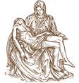 pieta statue of Michelangelo vector image