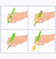 Writing and drawing vector image