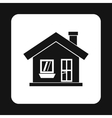 One storey house with a chimney icon simple style vector image
